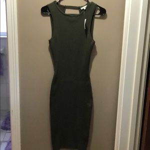 NWT! Charlotte Russe olive green knit dress!